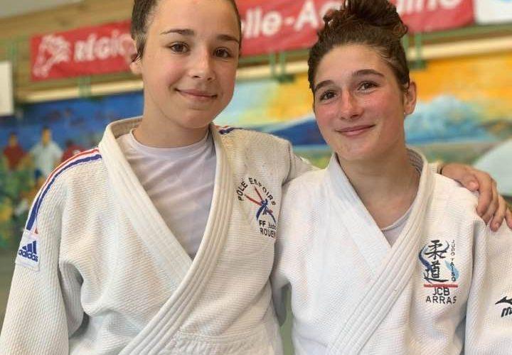 Clara 5eme et Liza 9eme au championnat de France junior 2020