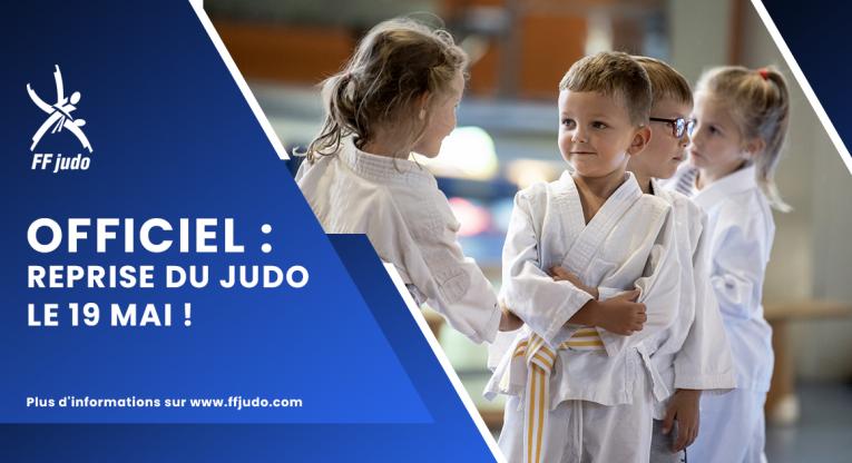 Reprise du Judo pour les mineurs à partir du 22 mai